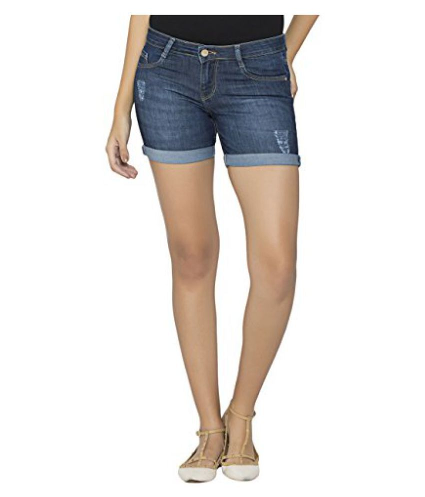 42b17affece Buy Kraus Jeans Women s Denim Shorts Online at Best Prices in India -  Snapdeal