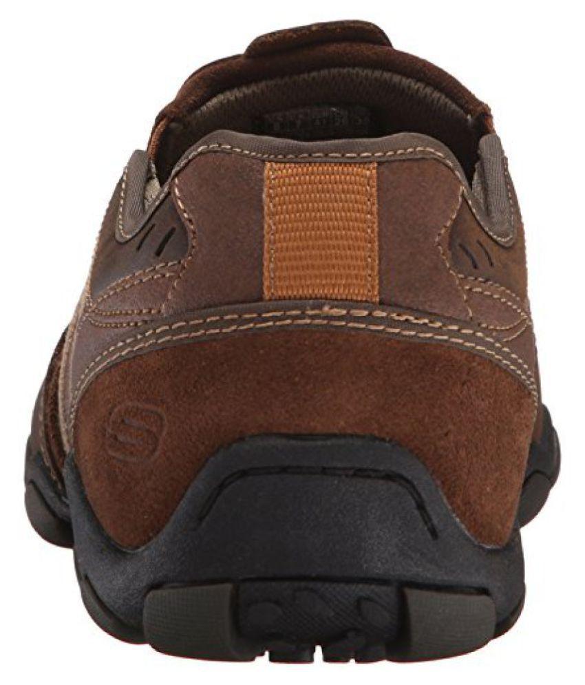 Skechers USA Men's Diameter Casual Slip On,Dark Brown,10 M US