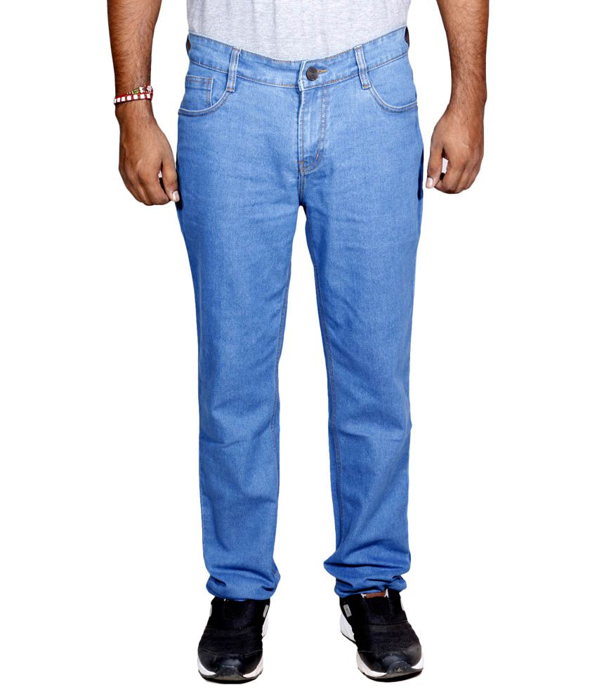 IndiWeaves Blue Regular Fit Jeans