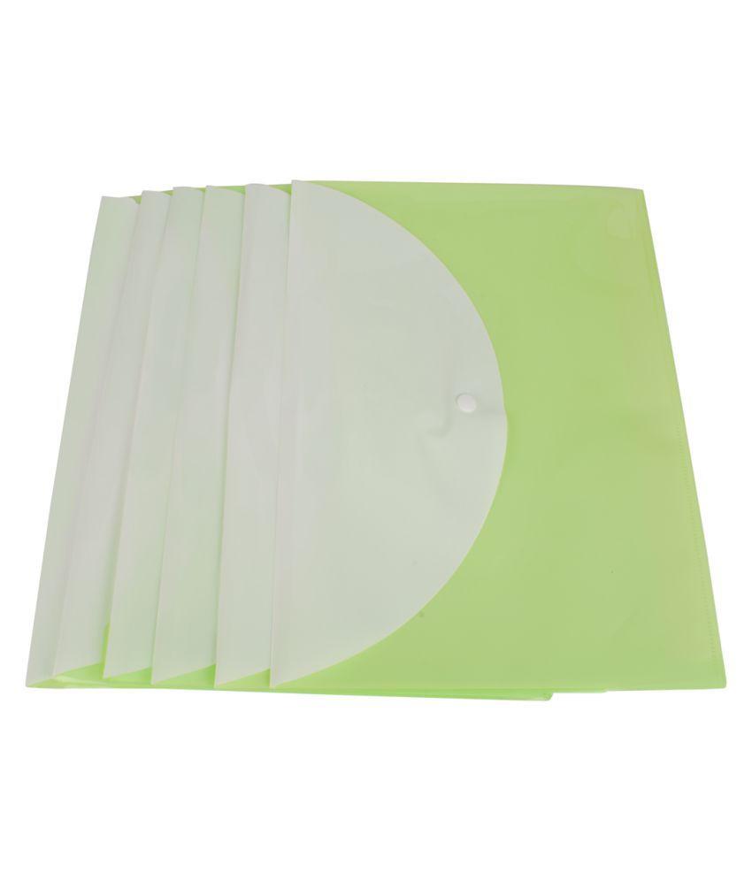 DataKing Green Polypropylene Document Bag - Set of 12
