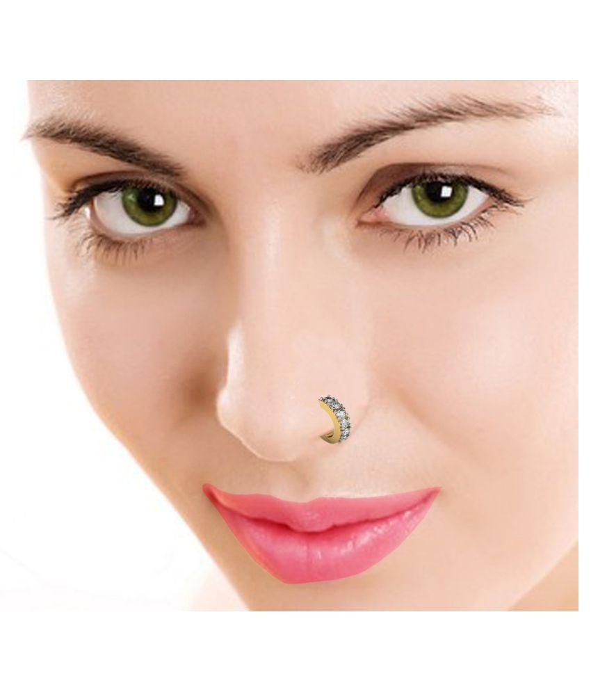 Suvarnadeep 92 5 Silver Nose Ring Buy Suvarnadeep 92 5 Silver