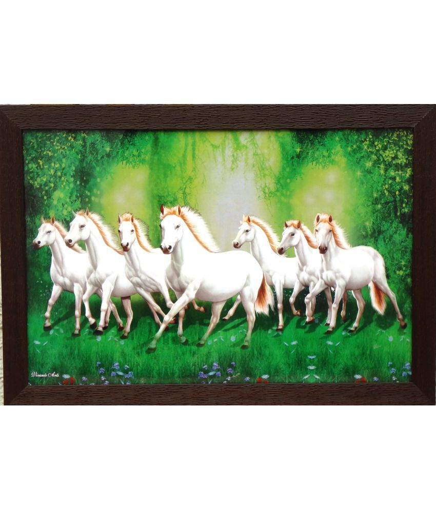 Amazing Collections Horse Acrylic Painting With Frame Single Piece