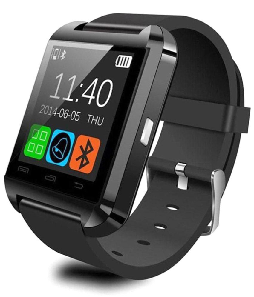 Quetzal U 8 Smart Watches Black Snapdeal Rs. 649.00