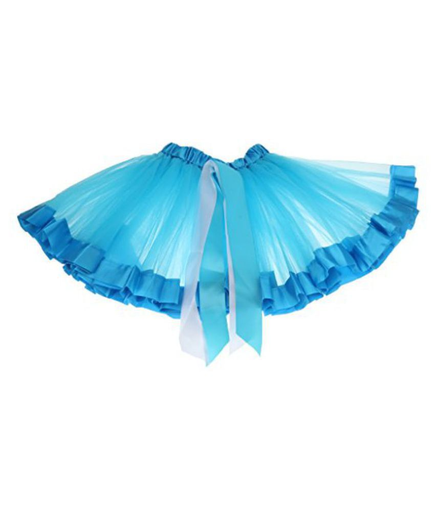 c64069e9e ... Phenovo Kids Handmade Colorful Tutu Skirt Girls Rainbow Tulle Tutu Mini  Dress Blue S ...