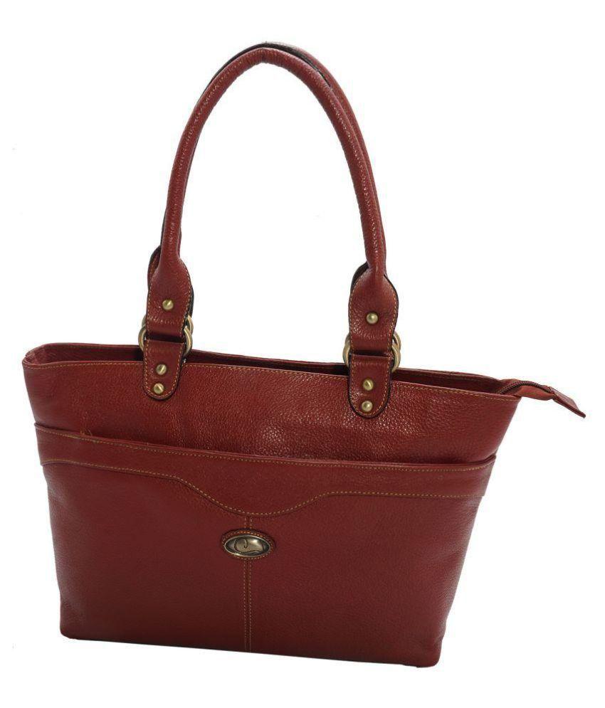 Prezia Brown Pure Leather Shoulder Bag