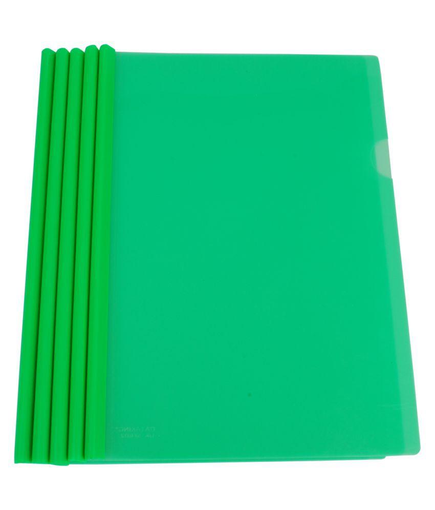 DataKing Polypropylene Stick File With Round Stick (Set Of 20, Green)
