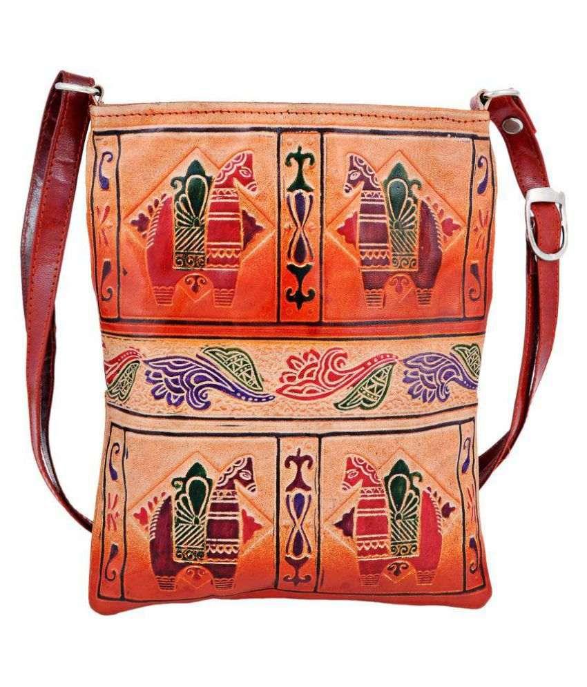 Zint Multi Pure Leather Shoulder Bag