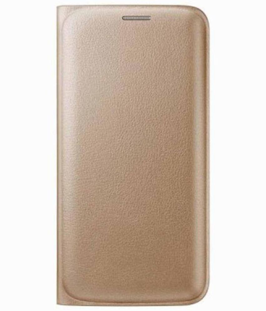 Gionee P5 Mini Flip Cover by Case Cloud - Golden