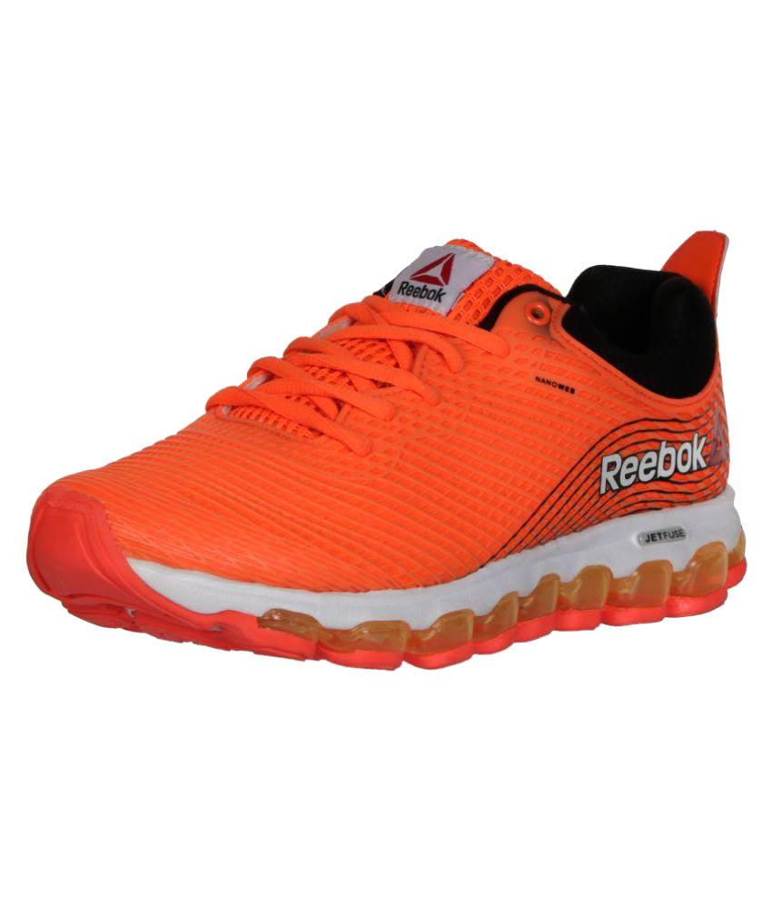 detailed look f183e f760c ... Reebok Jet Fuse Run Orange Running Shoes .