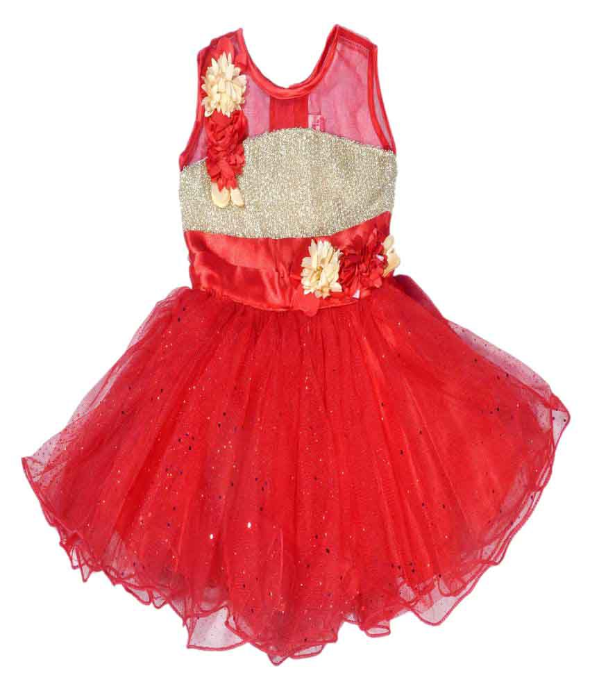 86735356bc3d Hey Baby Red Frock - Buy Hey Baby Red Frock Online at Low Price - Snapdeal