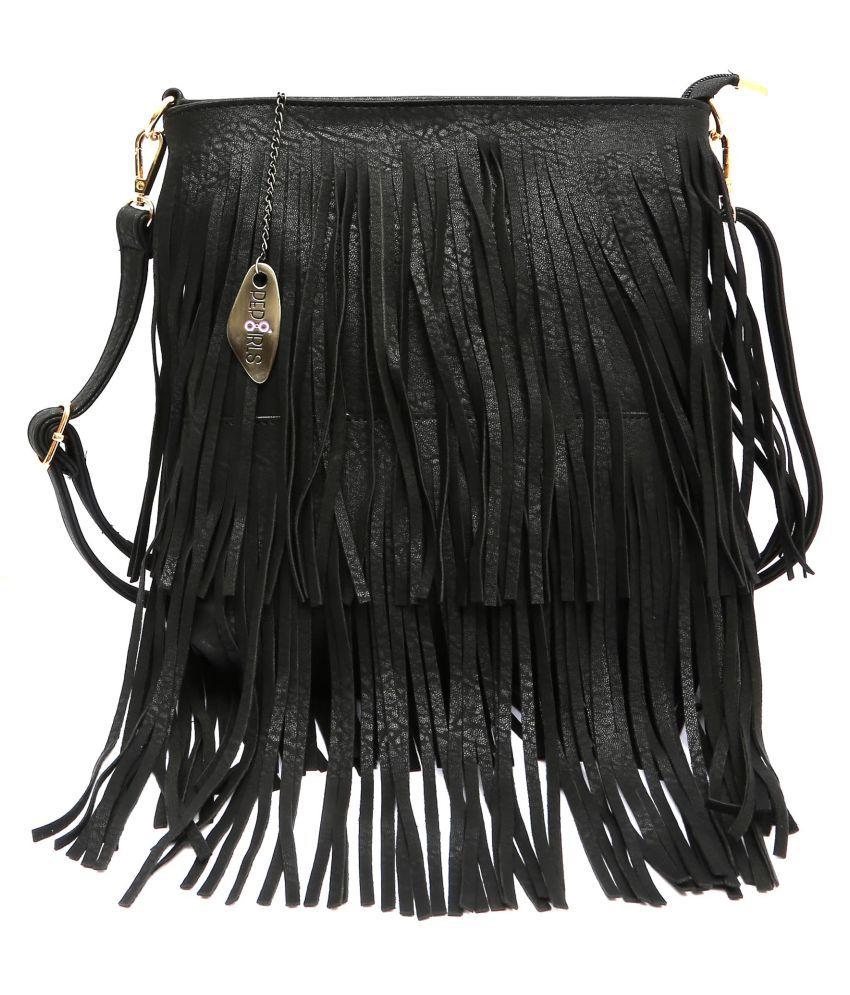 Pep Girls Black P.U. Sling Bag