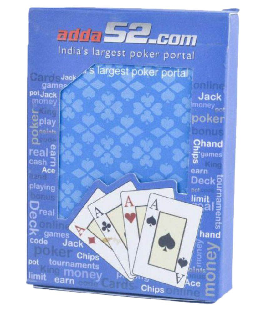 New Salwan Sons Blue Plastic Playing Cards