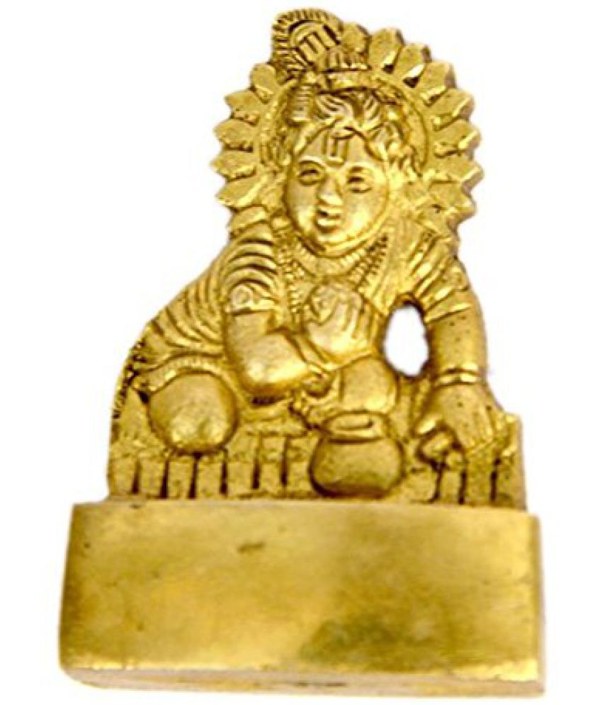 Brass Hinduism Bal Krishna in Fine Finishing Carving art by Bharat Haat  BH00610