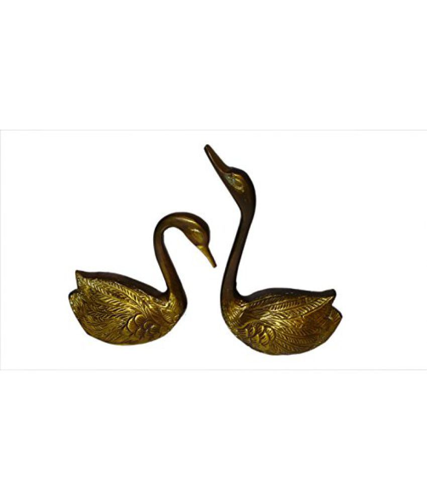 Brass Metal Duck pair Small in Fine Finishing Work by Bharat Haat  BH01165