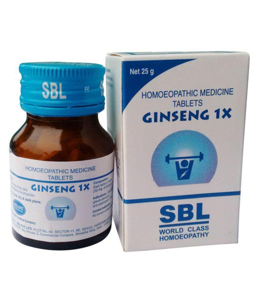 SBL GINSENG TRITURATION TABLET 1X Tablet 25 gm Pack Of 1