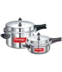 Prestige 7.5 Ltrs Aluminium Pressure Cooker Combo