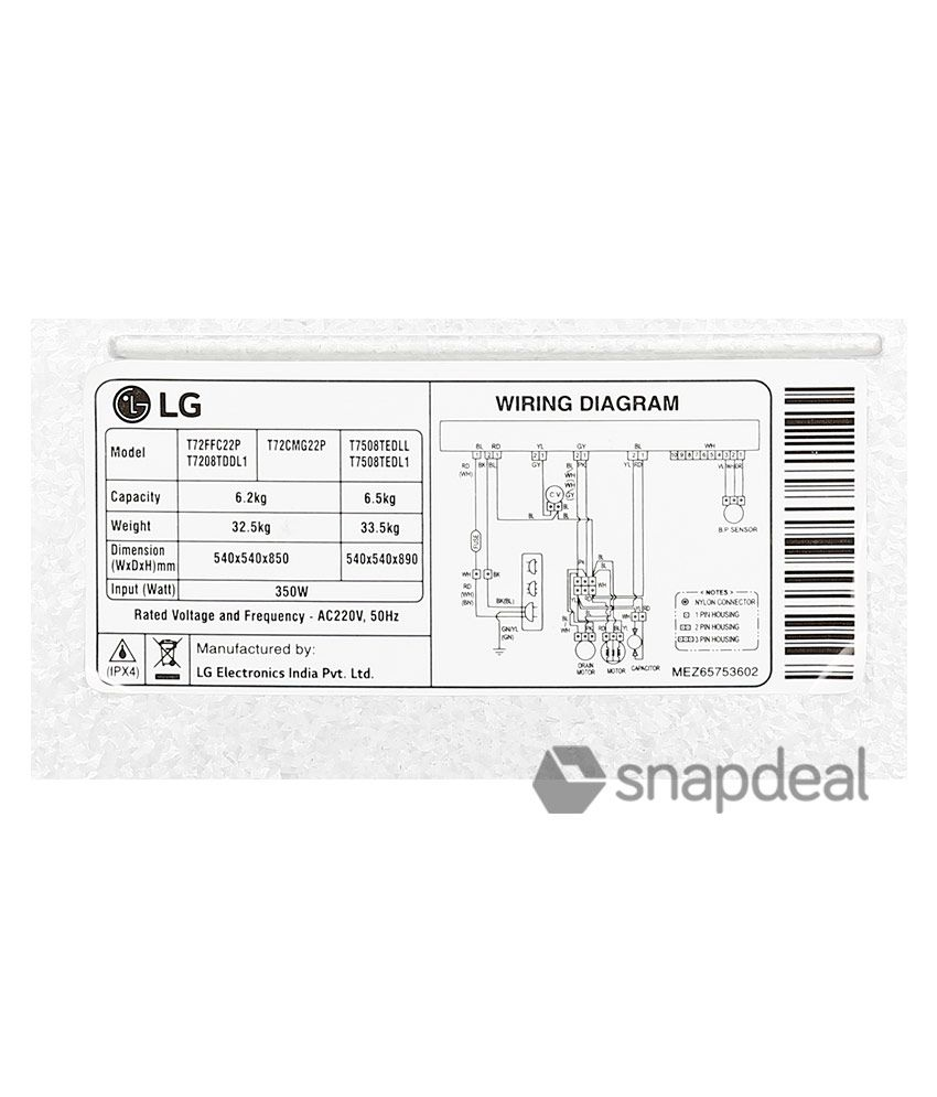 lg semi automatic washing machine wiring diagram   48