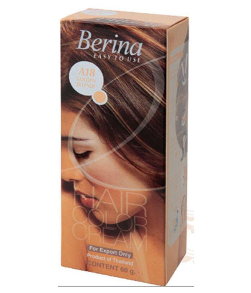Berina HAIR COLOR CREAM A18 GOLDEN BLONDE Permanent Hair Color Golden Blonde 60 g