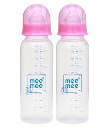 Mee Mee Pink Feeding Bottle - Pack Of 2