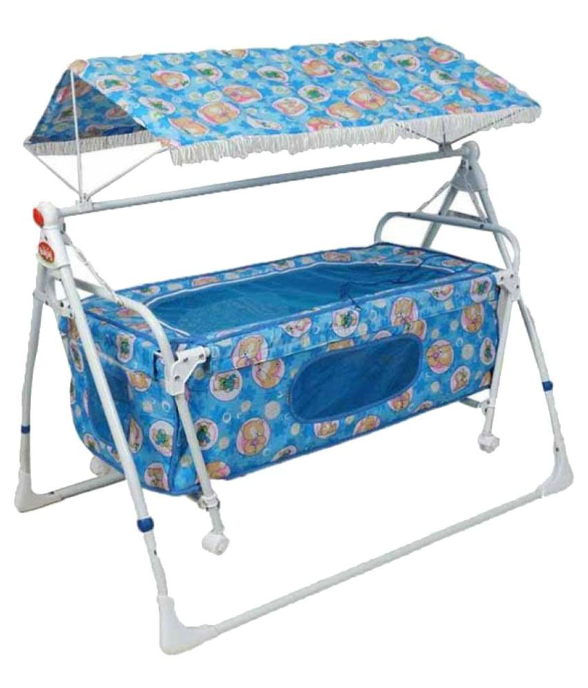 Variety Gift Centre Baby Cradle - Blue