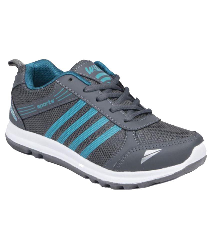 Asian Wilto Wonder 13 Gray Running Shoes