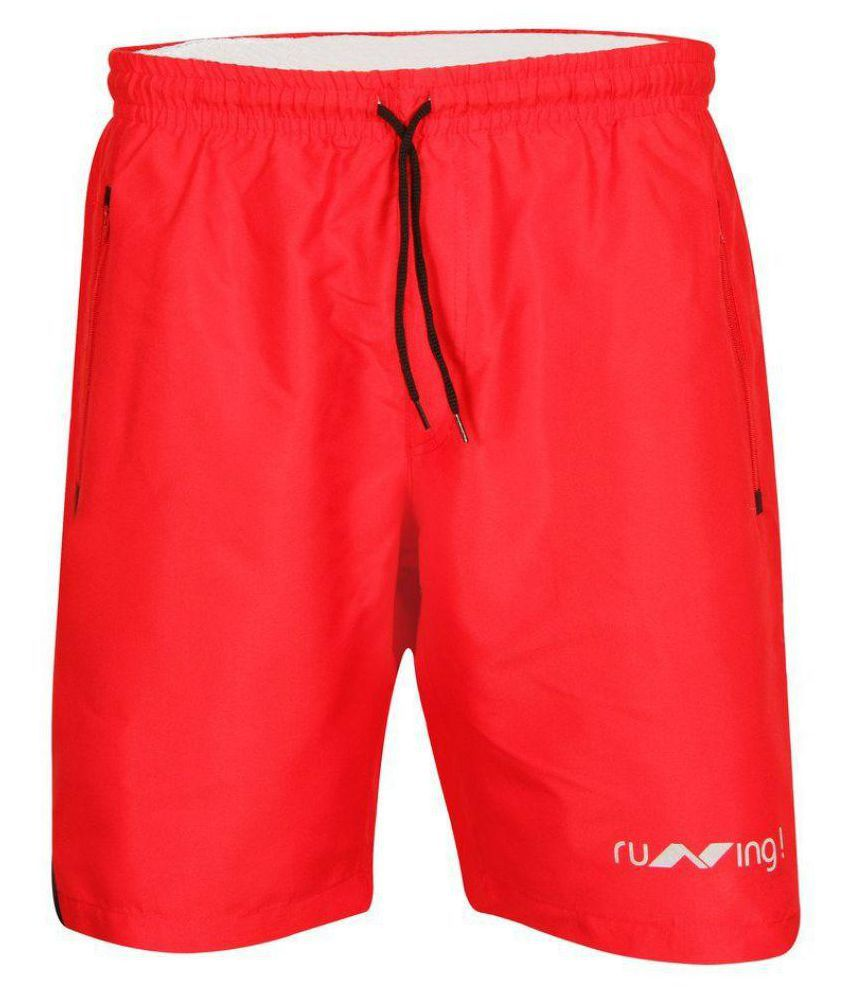 Nivia Red Running Shorts