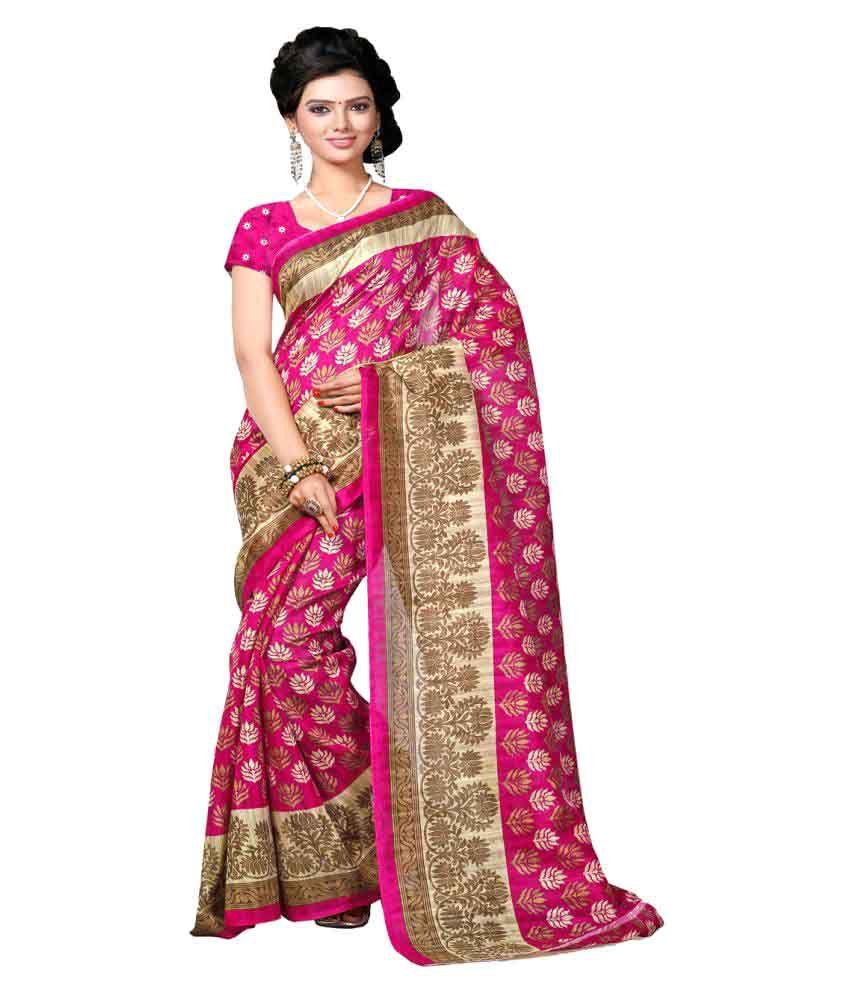 Riti Riwaz Multicoloured Bhagalpuri Silk Saree