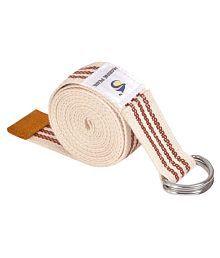 Marine Pearl Brown Super Soft 8 Ft Organic Cotton Yoga Belt