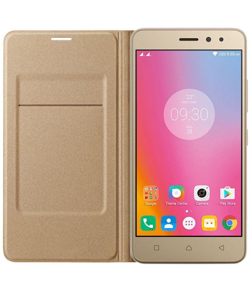 buy popular 686d5 1c279 Samsung Galaxy J7 Prime Flip Cover by Goospery - Golden
