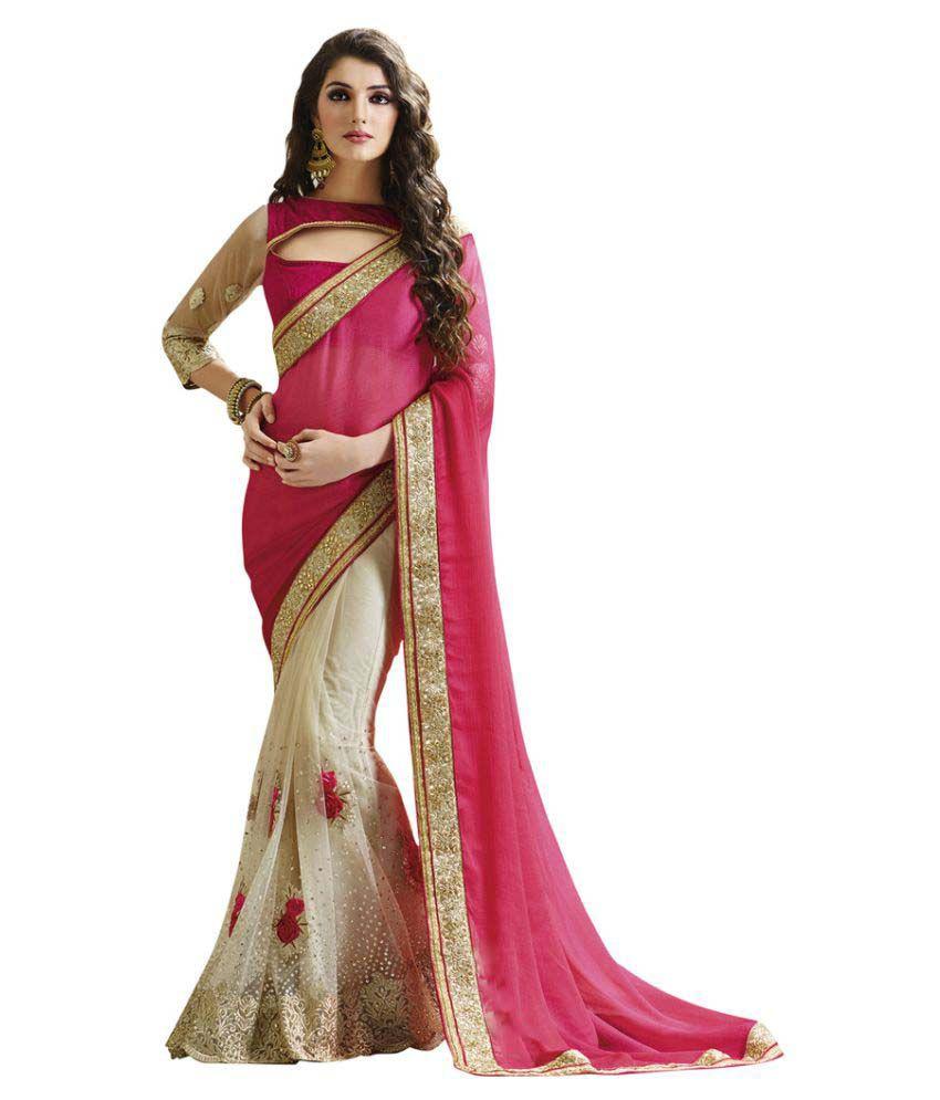 Brahmani Fabrics Multicoloured Georgette Saree