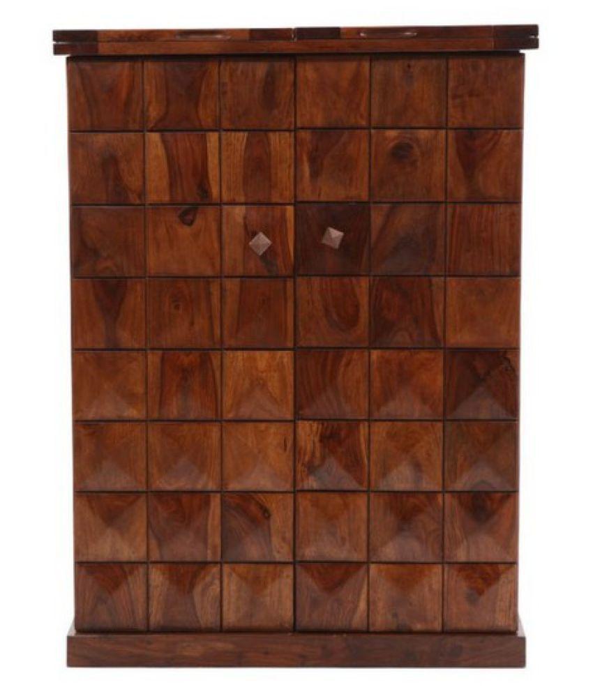 Evok Juniper Solid Wood Bar Cabinet