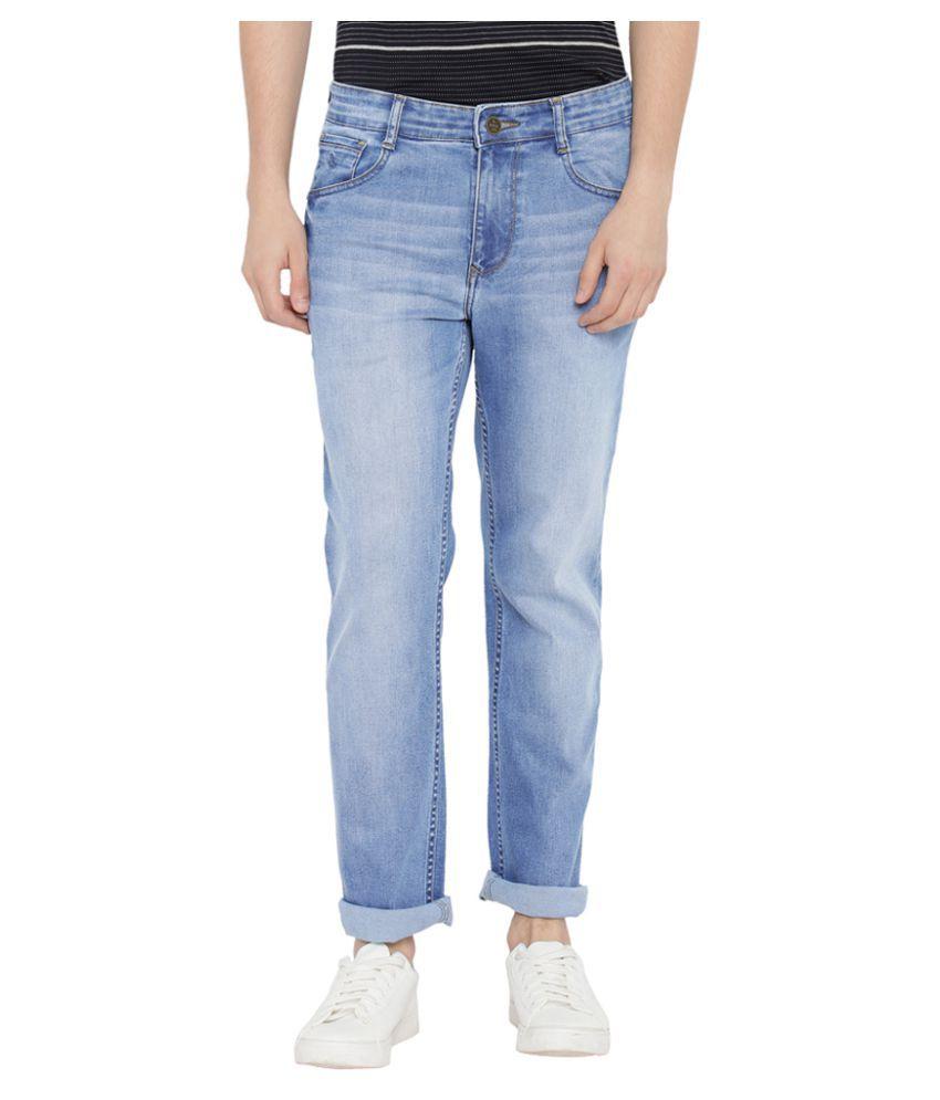 Parx Blue Regular Fit Jeans