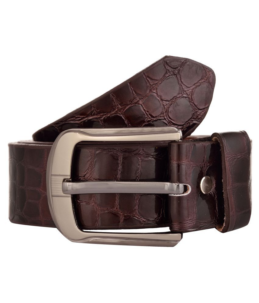 Exotique Brown Leather Casual Belts
