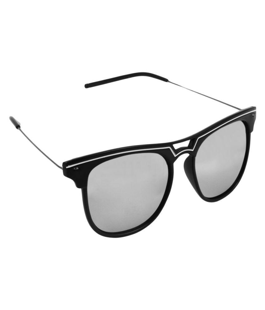 Olvin Silver Wayfarer Sunglasses ( OL7354-06 )