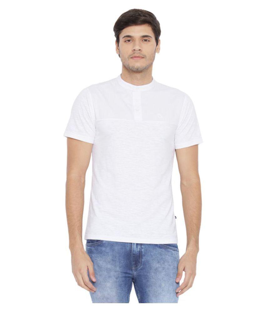 Parx White Henley T-Shirt