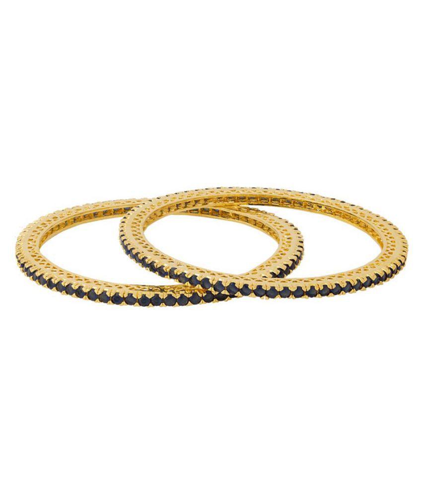 Voylla Golden Bangles - Set of 2