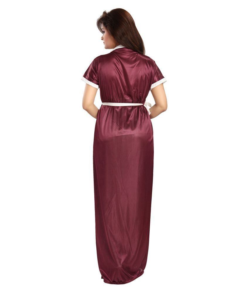 Buy Babesa Satin Nighty   Night Gowns Online at Best Prices in India -  Snapdeal 4532955a7c75