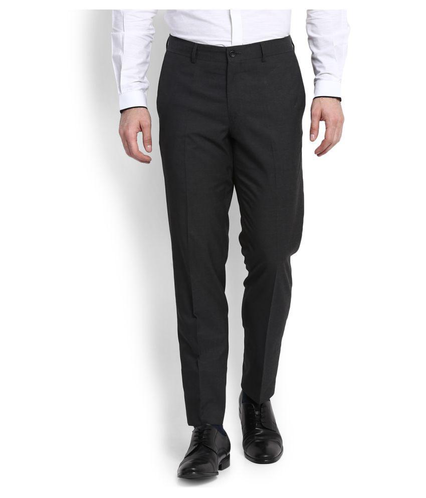 Wills Lifestyle Grey Skinny Flat Trousers