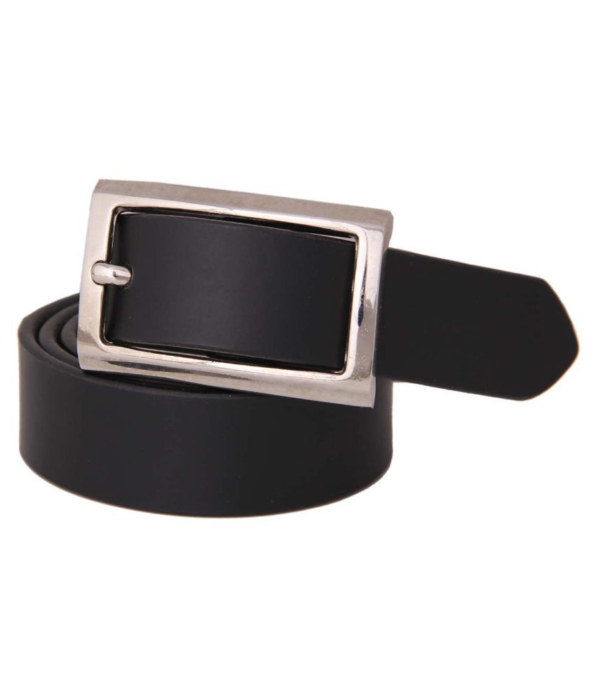 Fifbi Black Leather Formal Belts
