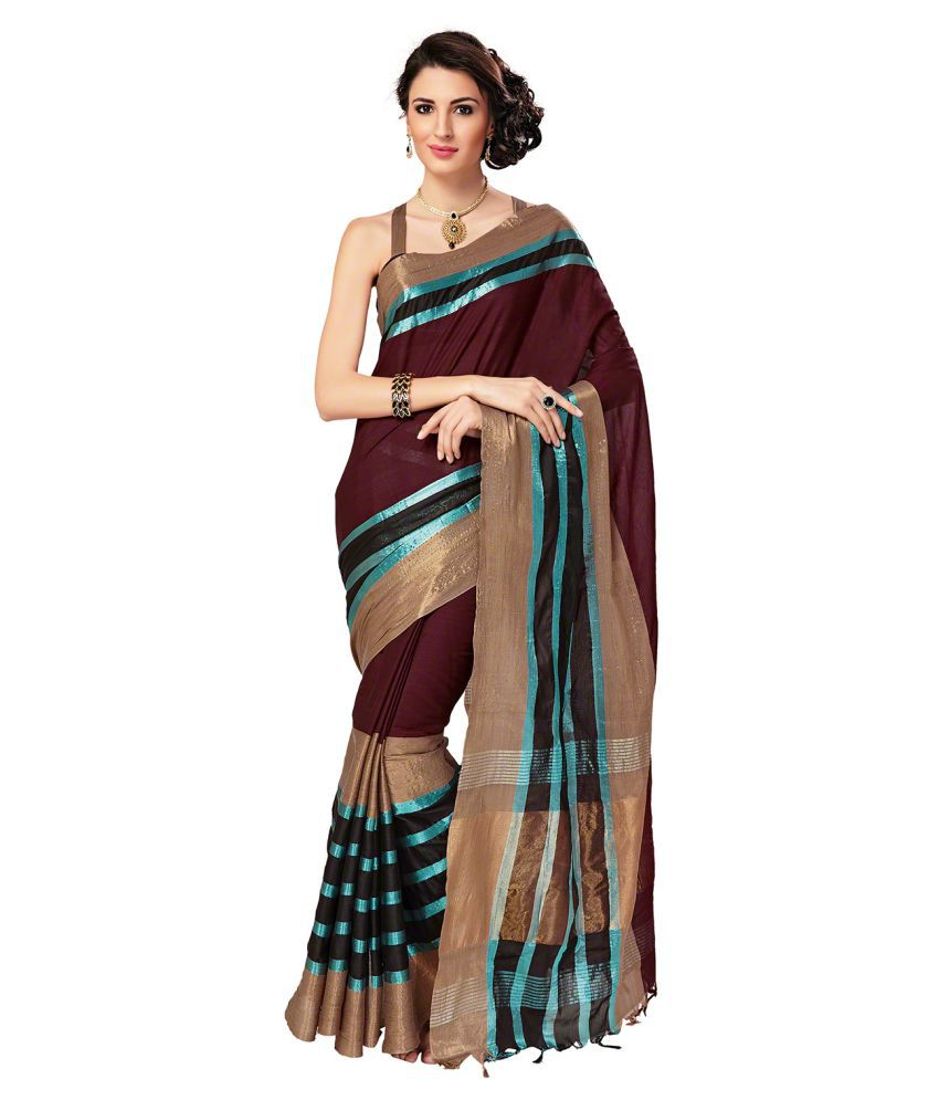 Signature Fashion Multicoloured Cotton Silk Saree