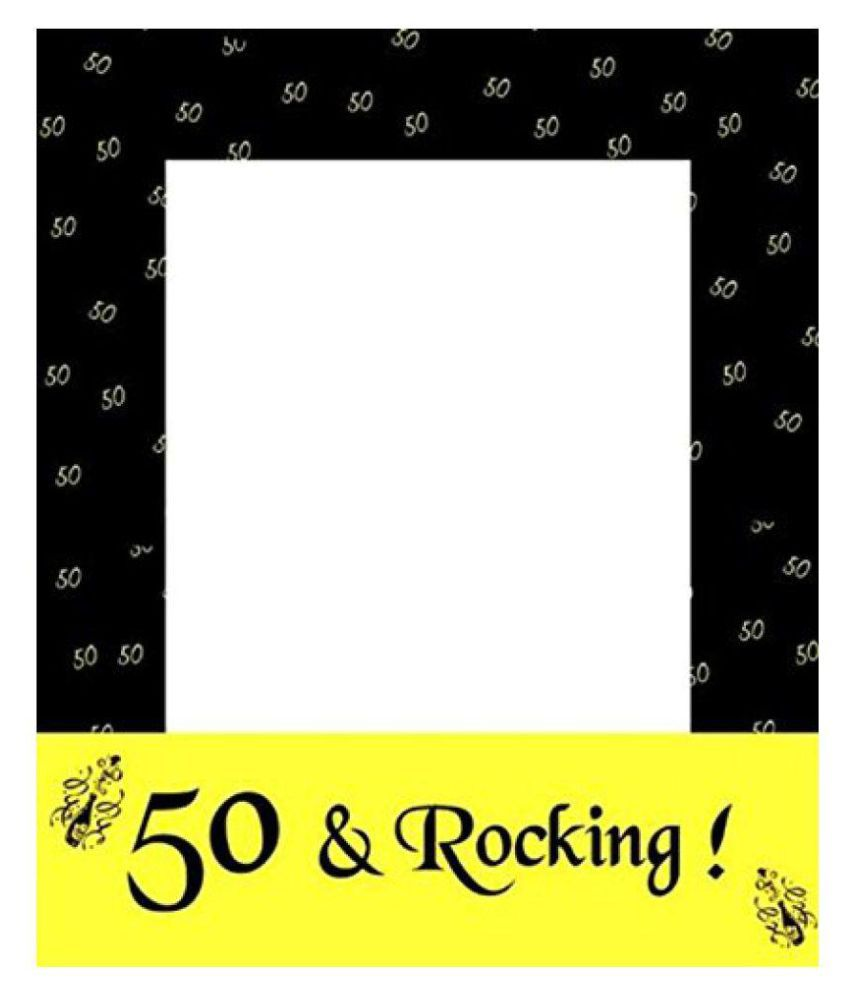 Theme My Party Photo Booth Frame for 50th Birthday & Anniversary ...