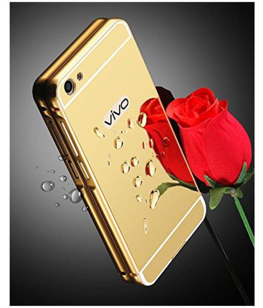 pretty nice 10177 44702 Vivo V5 Mirror Back Covers Micomy - Golden