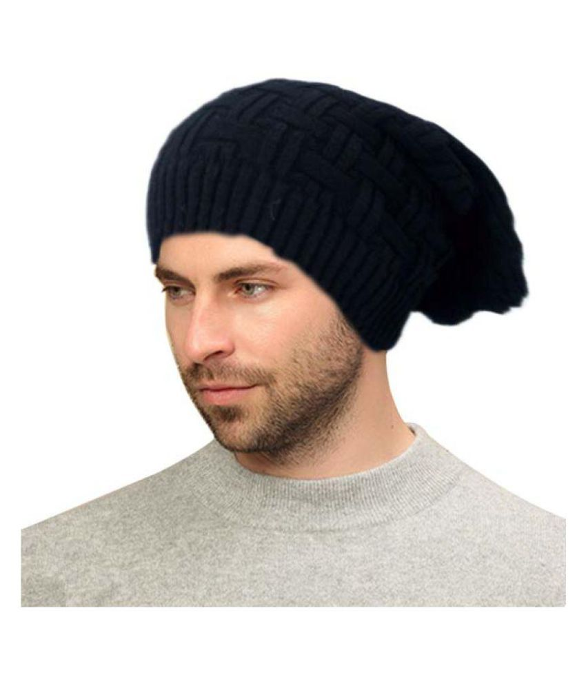 CareFone Black Plain Wollen Beanie Caps  Buy Online at Low Price in India -  Snapdeal 7d02d8f0c77
