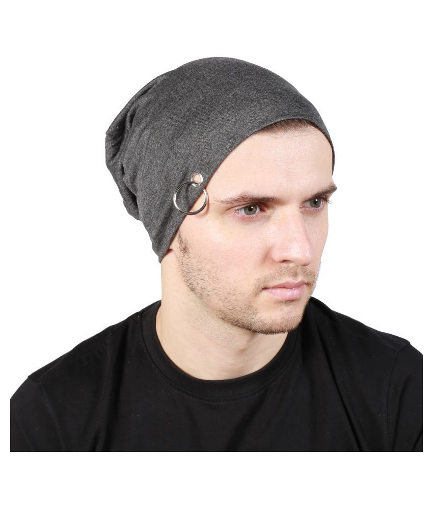 Noise Gray Plain Polyester Caps
