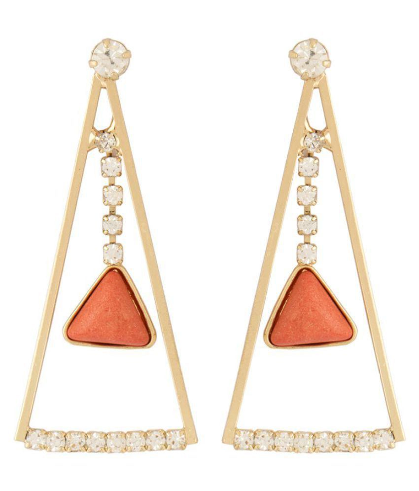 Voylla Multicolour Hanging Earrings