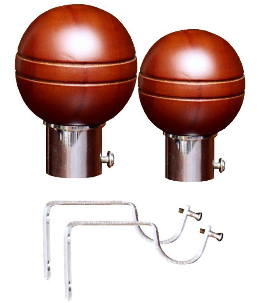 Curve Set Of 4 Wooden Single Rod Bracket Snapdeal Rs. 290.00