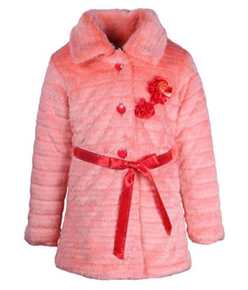 Cutecumber Girls Polyester Embellished Orange Full Sleeve Jacket