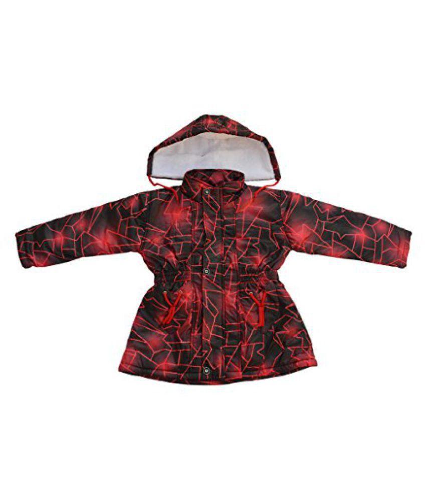 Fashion Addiction Girls' Nylon Jacket (Red, 2-3 Years)