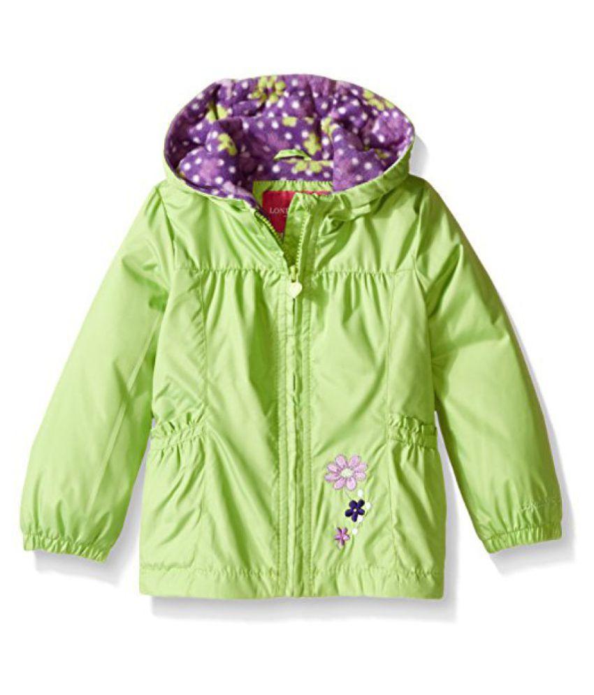 London Fog Girls Floral Printed Fleece Lined Jacket