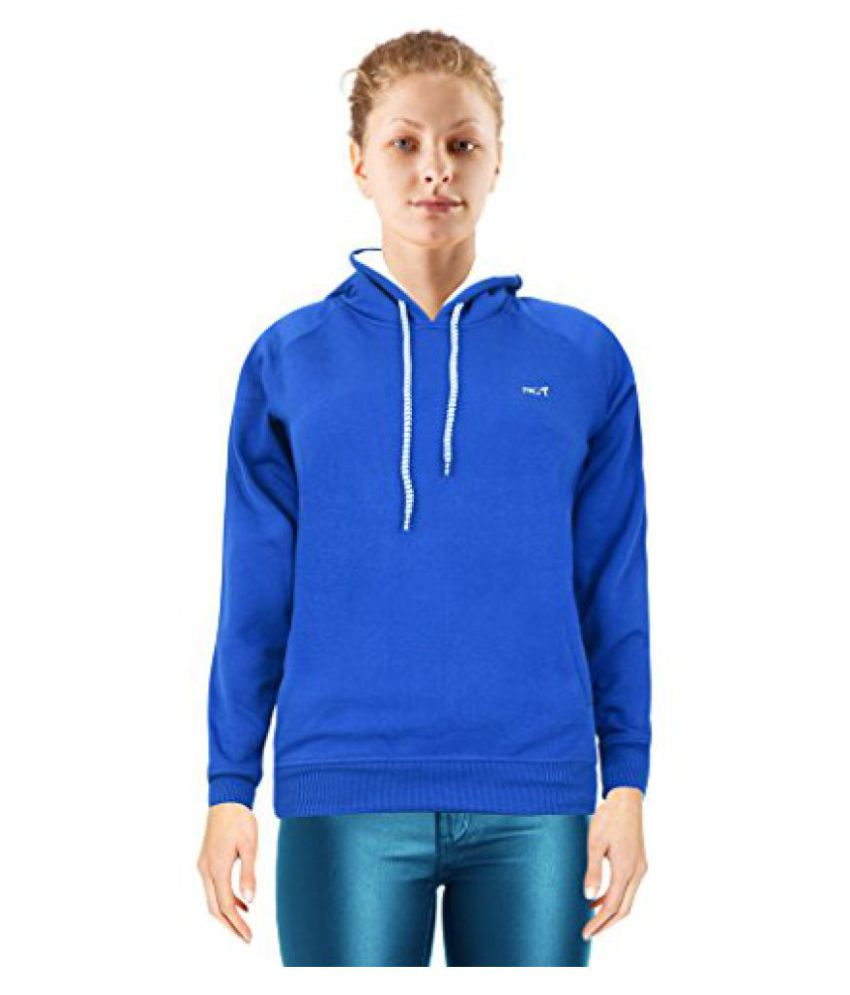 NGT Blue Color Hooded Sweatshirt For Women in High Quality.